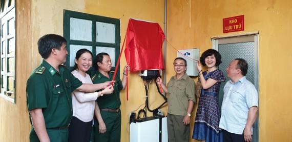 Bàn giao công trình cho đồn biên phòng tại tỉnh Bình Phước