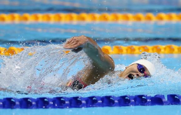 Ánh Viên đã trở thành VĐV đoạt nhiều HCV nhất tại SEA Games 30. Ảnh: DŨNG PHƯƠNG
