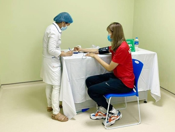 Các VĐV của Việt Nam sẽ tiêp tục được tiêm Vaccine Covid-19.