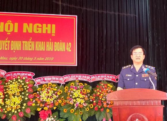 Bộ Tư lệnh Vùng Cảnh sát biển 4 công bố quyết triển khai Hải đoàn 42 ảnh 1