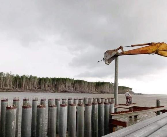Giá VLXD tăng cao và khan hiếm khiến nhiều công trình xây dựng, nhất là kè bảo vệ đê biển trên địa bàn Cà Mau bị ảnh hưởng nghiêm trọng