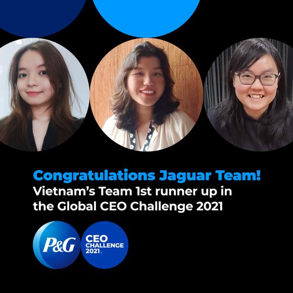 Đội Việt Nam xuất sắc giành ngôi Á Quân tại cuộc thi P&G CEO Challenge 2021 toàn cầu