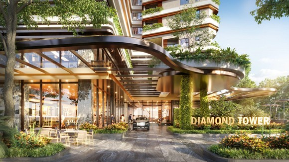 Sảnh đón sang trọng như khách sạn 5 sao tại Charm Diamond