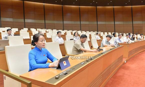 Quốc hội thảo luận trực tuyến về việc thực hiện chính sách, pháp luật về phòng, chống xâm hại trẻ em, sáng 27-5-2020. Ảnh: QUOCHOI