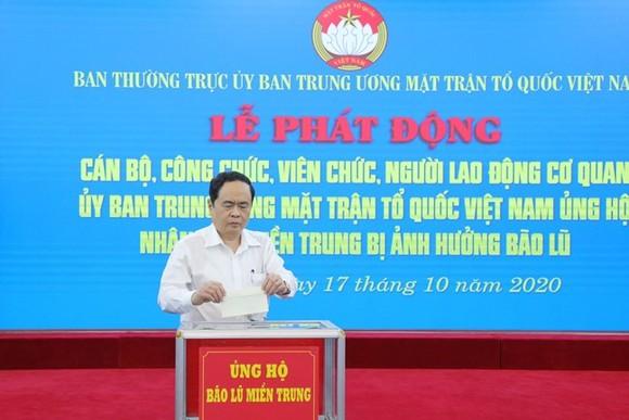Mặt trận Tổ quốc Việt Nam phát động ủng hộ nhân dân miền Trung, Tây Nguyên ảnh 1