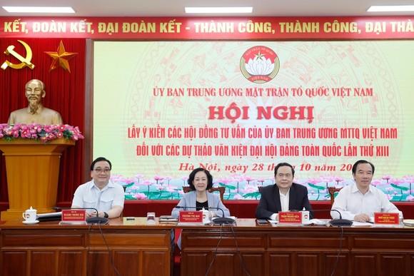 Hội nghị lấy ý kiến của các Hội đồng tư vấn của Ủy ban Trung ương MTTQ Việt Nam, sáng 28-10-2020.