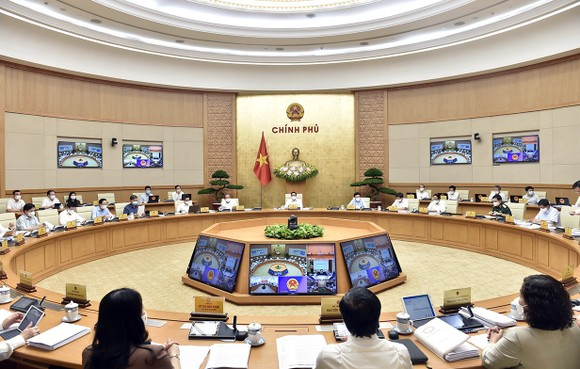 """Họp Chính phủ thường kỳ, Thủ tướng Phạm Minh Chính yêu cầu: """"Nghĩ thật, nói thật, làm thật, hiệu quả thật"""" ảnh 1"""