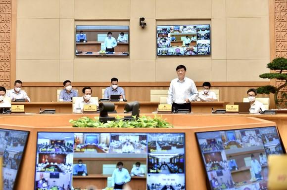 Thủ tướng Phạm Minh Chính chủ trì hội nghị trực tuyến của Thường trực Chính phủ với 27 tỉnh thành phố khu vực phía Nam. Ảnh: VIẾT CHUNG