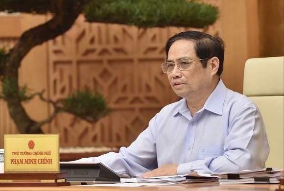 Thủ tướng Phạm Minh Chính chủ trì hội nghị trực tuyến toàn quốc. Ảnh: VIẾT CHUNG