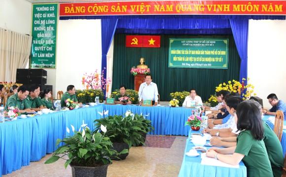 Giám đốc Sở LĐTB-XH TPHCM Lê Minh Tấn thăm, chúc tết cơ sở cai nghiện ma túy ảnh 2
