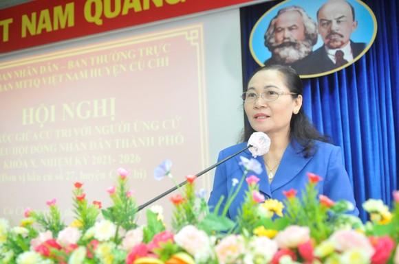 Ứng cử viên Nguyễn Thị Lệ nêu nhiều giải pháp nâng cao chất lượng đời sống người dân ảnh 1