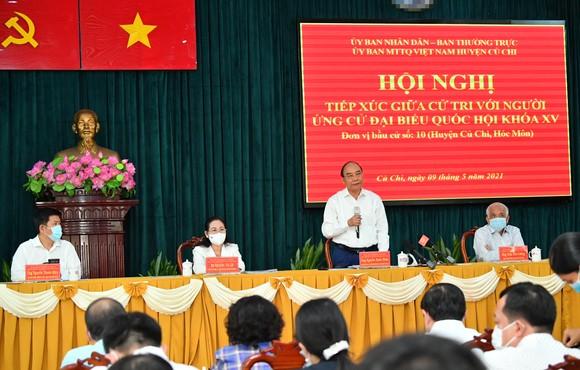 Cử tri huyện Củ Chi vui mừng khi Chủ tịch nước ứng cử đại biểu Quốc hội tại vùng đất cách mạng ảnh 3