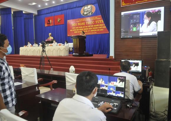 Chủ tịch HĐND TPHCM Nguyễn Thị Lệ tiếp xúc cử tri nữ và cán bộ, chiến sĩ Sư đoàn 9 ảnh 5