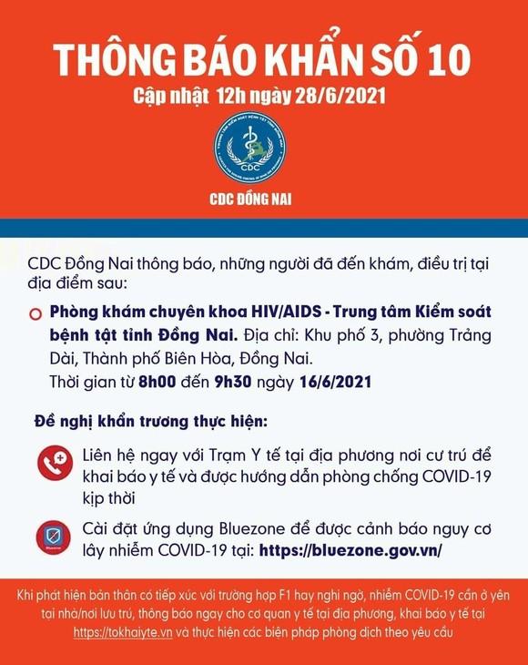 Đồng Nai: Thông báo khẩn tìm người đến Phòng khám chuyên khoa HIV/AIDS ảnh 1