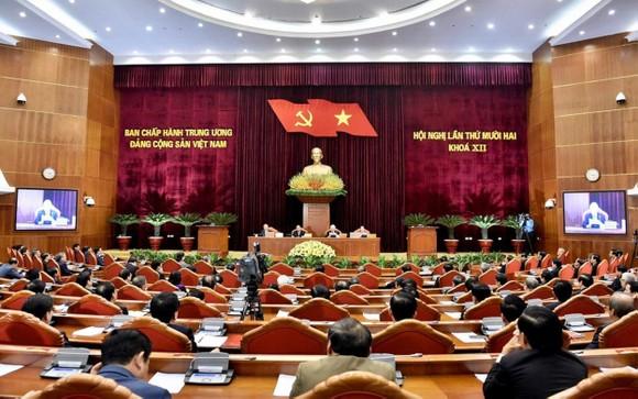 Bế mạc Hội nghị lần thứ 12 Ban Chấp hành Trung ương Đảng khóa XII ảnh 1
