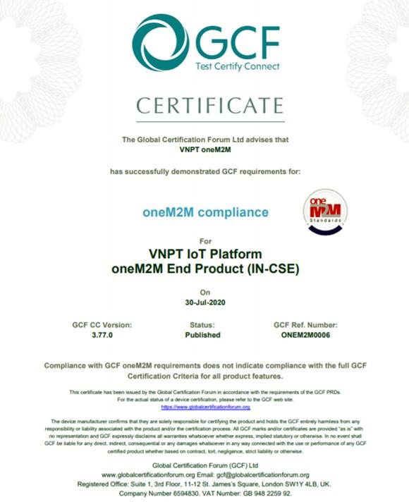 Nền tảng VNPT IoT Platform được công nhận toàn cầu ảnh 1