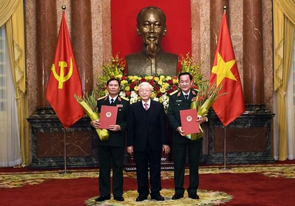Trao Quyết định thăng quân hàm từ Trung tướng lên Thượng tướng cho 2 Thứ trưởng Bộ Quốc phòng ảnh 1