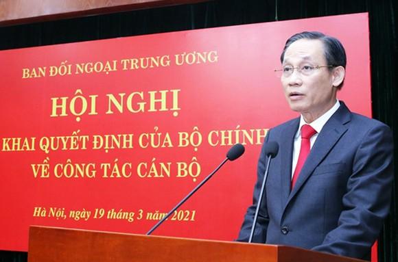 Thứ trưởng Bộ Ngoại giao Lê Hoài Trung giữ chức Trưởng Ban Đối ngoại Trung ương ảnh 3