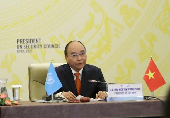 Chủ tịch nước Nguyễn Xuân Phúc chủ trì phiên thảo luận Hội đồng Bảo an Liên hiệp quốc ảnh 3