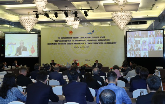 Chủ tịch nước Nguyễn Xuân Phúc chủ trì phiên thảo luận Hội đồng Bảo an Liên hiệp quốc ảnh 4