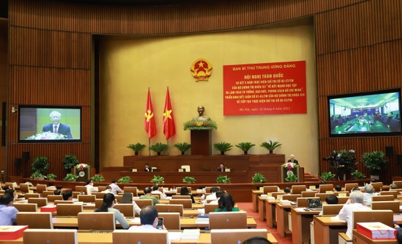 Tổng Bí thư Nguyễn Phú Trọng: Cán bộ, đảng viên phải suy nghĩ, hành động vì lợi ích chung, vì hạnh phúc của nhân dân ảnh 3