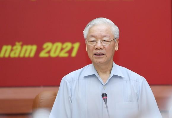 Tổng Bí thư Nguyễn Phú Trọng chủ trì Hội nghị thứ nhất Quân ủy Trung ương nhiệm kỳ mới ảnh 2