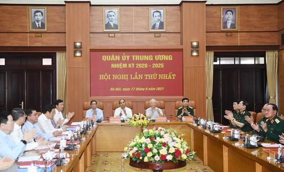 Quang cảnh Hội nghị lần thứ nhất, Quân ủy Trung ương nhiệm kỳ 2020 - 2025. Ảnh: VIẾT CHUNG