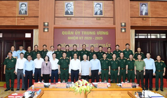 Tổng Bí thư Nguyễn Phú Trọng chủ trì Hội nghị thứ nhất Quân ủy Trung ương nhiệm kỳ mới ảnh 1