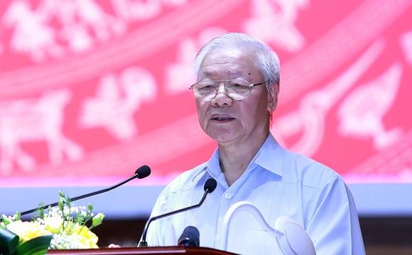 Tổng Bí thư Nguyễn Phú Trọng: Phải lấy cuộc sống bình yên, hạnh phúc của nhân dân làm mục tiêu phấn đấu ảnh 3
