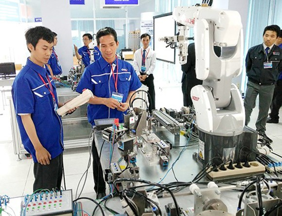 The robot laboratory in the Saigon Hi-tech Park