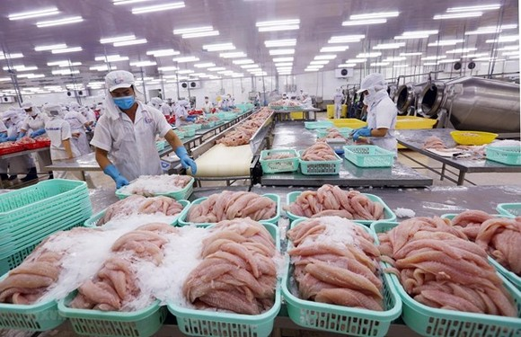 Processing seafood for exports (Photo: VNA)