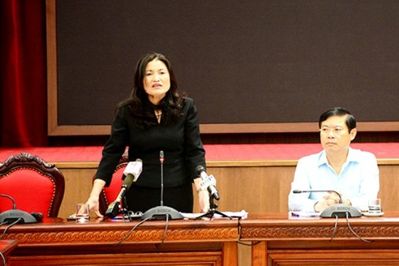 Deputy director of the Center for Disease Control La Thi Lan  at the press brief (Photo: SGGP)