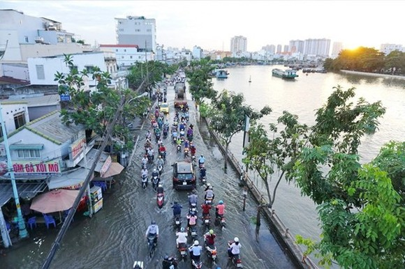 High record tide to hit parts of Ho Chi Minh City from Monday afternoon