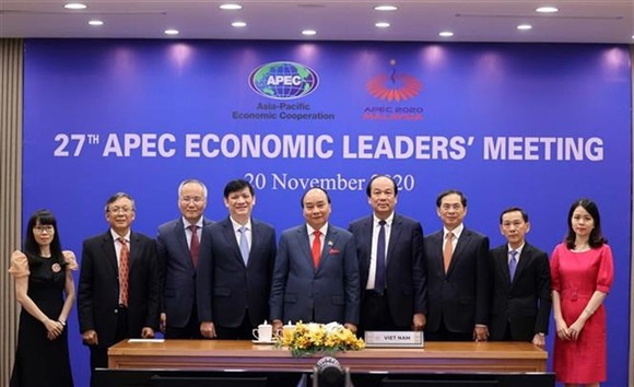 The 27th APEC Economic Leaders' Meeting opened on November 20 via video conference with leaders of 21 member economies taking part. (Photo: VNA/VNS)
