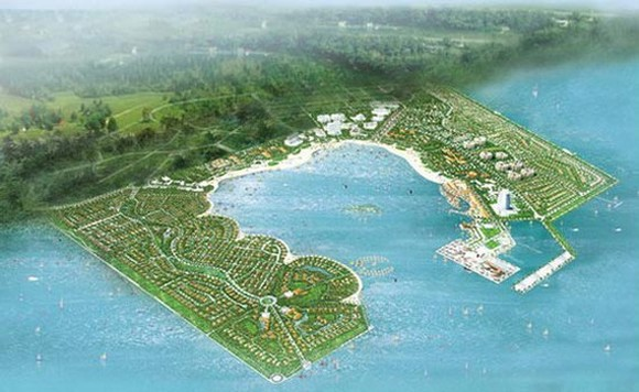 An artist's impression of Can Gio sea reclamation urban area