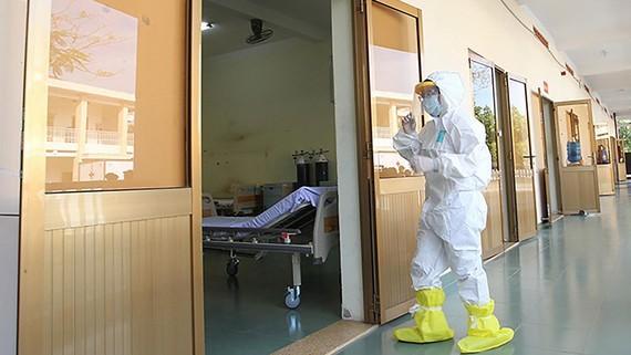 Một góc Bệnh viện bệnh lý hô hấp cấp tính Củ Chi. Ảnh: HOÀNG HÙNG