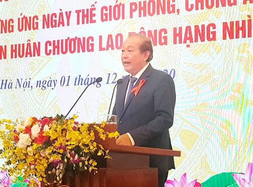 Phó Thủ tướng Thường trực Chính phủ Trương Hòa Bình dự và phát biểu tại hội nghị. Ảnh: VGP