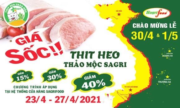 Nhân dịp lễ lớn, công ty giảm giá nhiều mặt hàng thịt heo thảo mộc