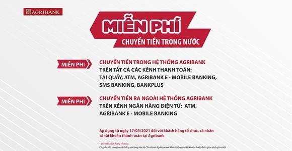Agribank miễn 100% phí dịch vụ chuyển tiền trong nước ảnh 1