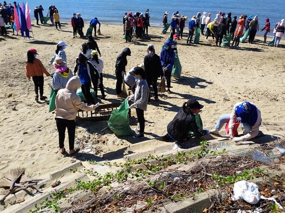 """Quảng Ngãi: 2.000 người tham gia chiến dịch """"Hãy làm sạch biển"""" ảnh 4"""