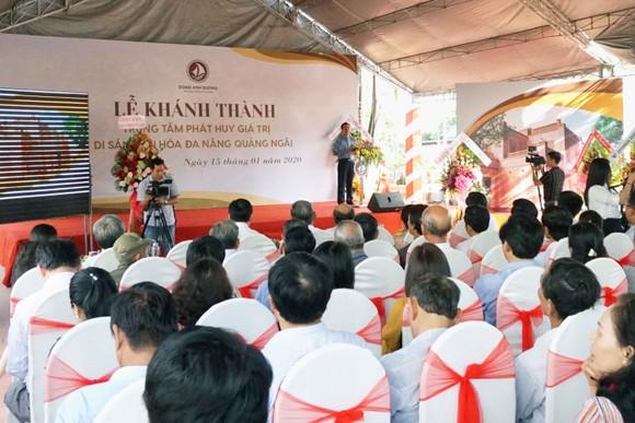 Khánh thành Trung tâm Phát huy giá trị di sản văn hóa đa năng Quảng Ngãi ảnh 1