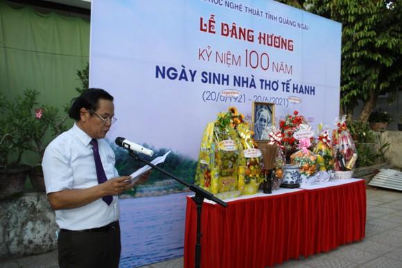 Kỷ niệm 100 năm Ngày sinh nhà thơ Tế Hanh ảnh 1