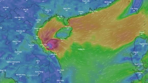 Bão số 13 khi vào đất liền các tỉnh Thừa Thiên - Huế đến Hà Tĩnh suy yếu thành áp thấp nhiệt đới ảnh 1
