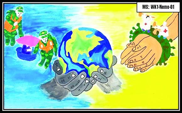 Hệ thống Trường mầm non Thế giới trẻ thơ (Worldkids): Đấu giá tranh 'Chia sẻ yêu thương' ảnh 1