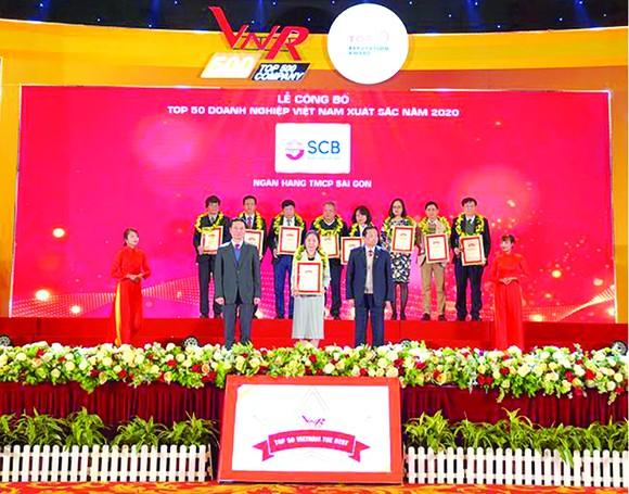 SCB được bình chọn vào Tốp 50 doanh nghiệp xuất sắc nhất Việt Nam 2020 ảnh 1