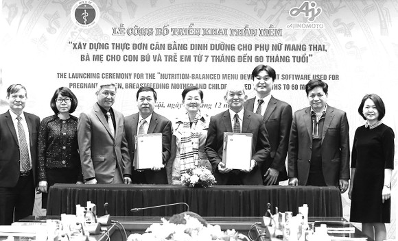 Vụ Sức khỏe Bà mẹ - Trẻ em và Công ty Ajinomoto Việt Nam ký kết hợp tác triển khai phần mềm trên quy mô toàn quốc