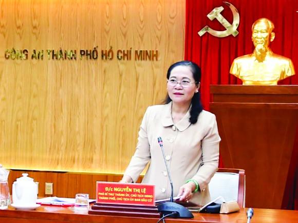 Đồng chí Nguyễn Thị Lệ phát biểu chỉ đạo tại buổi làm việc
