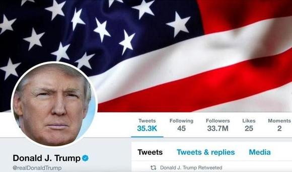 Tài khoản Twitter của ông Donald Trump bị khóa vĩnh viễn. Ảnh minh họa: REUTERS