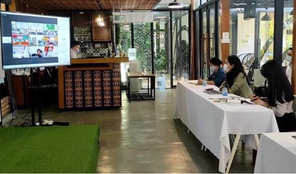Quang cảnh hội nghị trực tuyến về kết nối cung cầu giải pháp công nghệ phục vụ chuyển đổi số