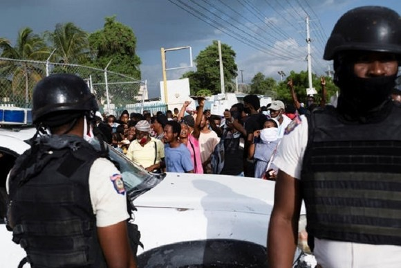 Haiti đề nghị Mỹ và Liên hợp quốc đưa quân đến bảo vệ, sau khi Tổng thống Jovenel Moðse bị ám sát. Ảnh: Twitter